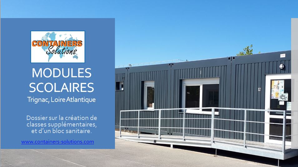 Modules scolaires Containers Solutions