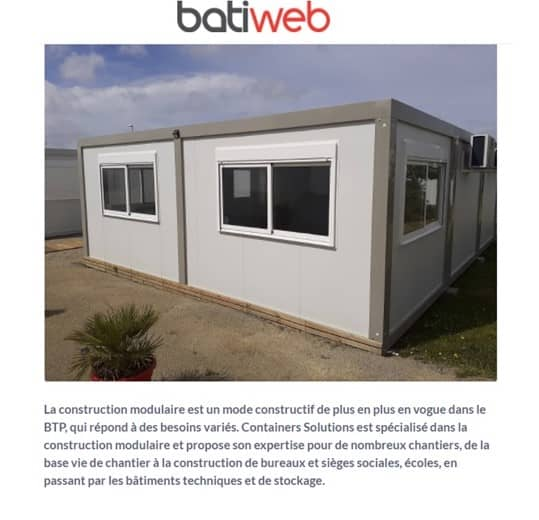 Batiweb Containers Solutions